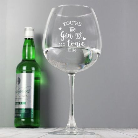 'Gin to My Tonic' Gin Balloon Glass